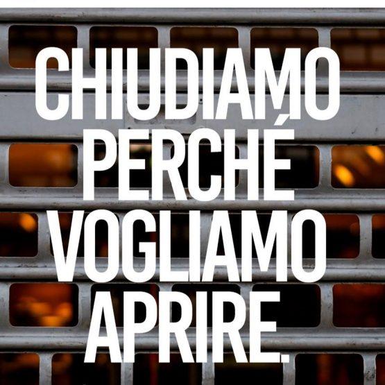 11 MAGGIO 2021 CHIUDIAMO PERCHE' VOGLIAMO APRIRE